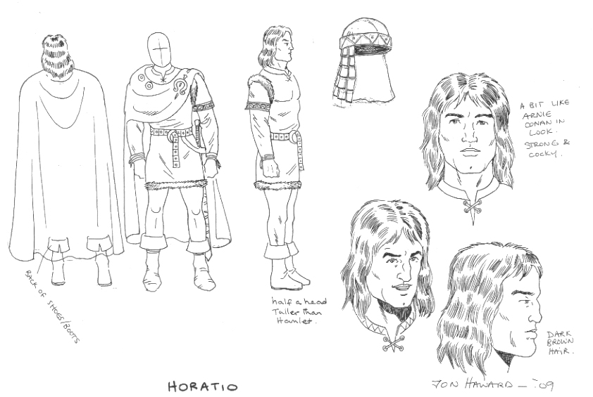 842x565 Hamlet Rough Cut Horatio Character Design