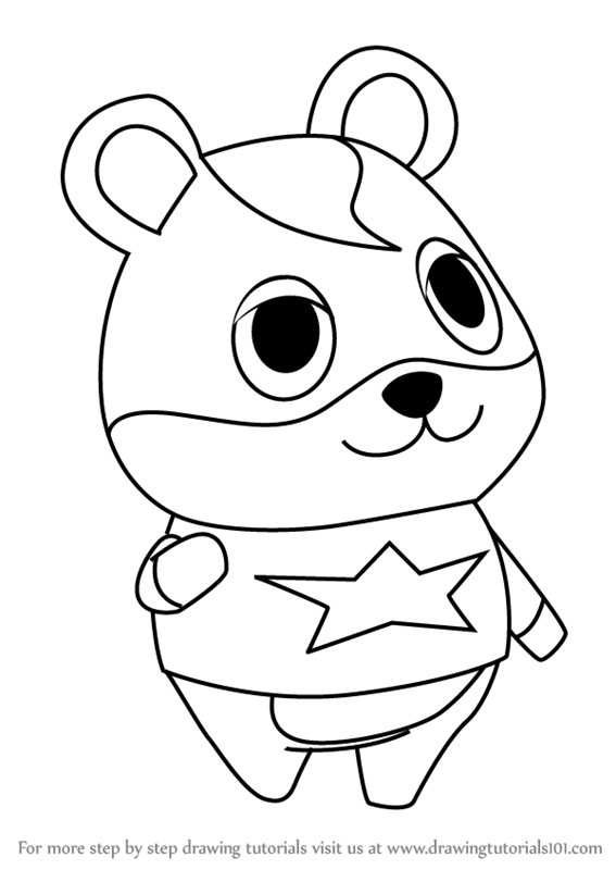 567x800 Learn How To Draw Hamlet From Animal Crossing (Animal Crossing