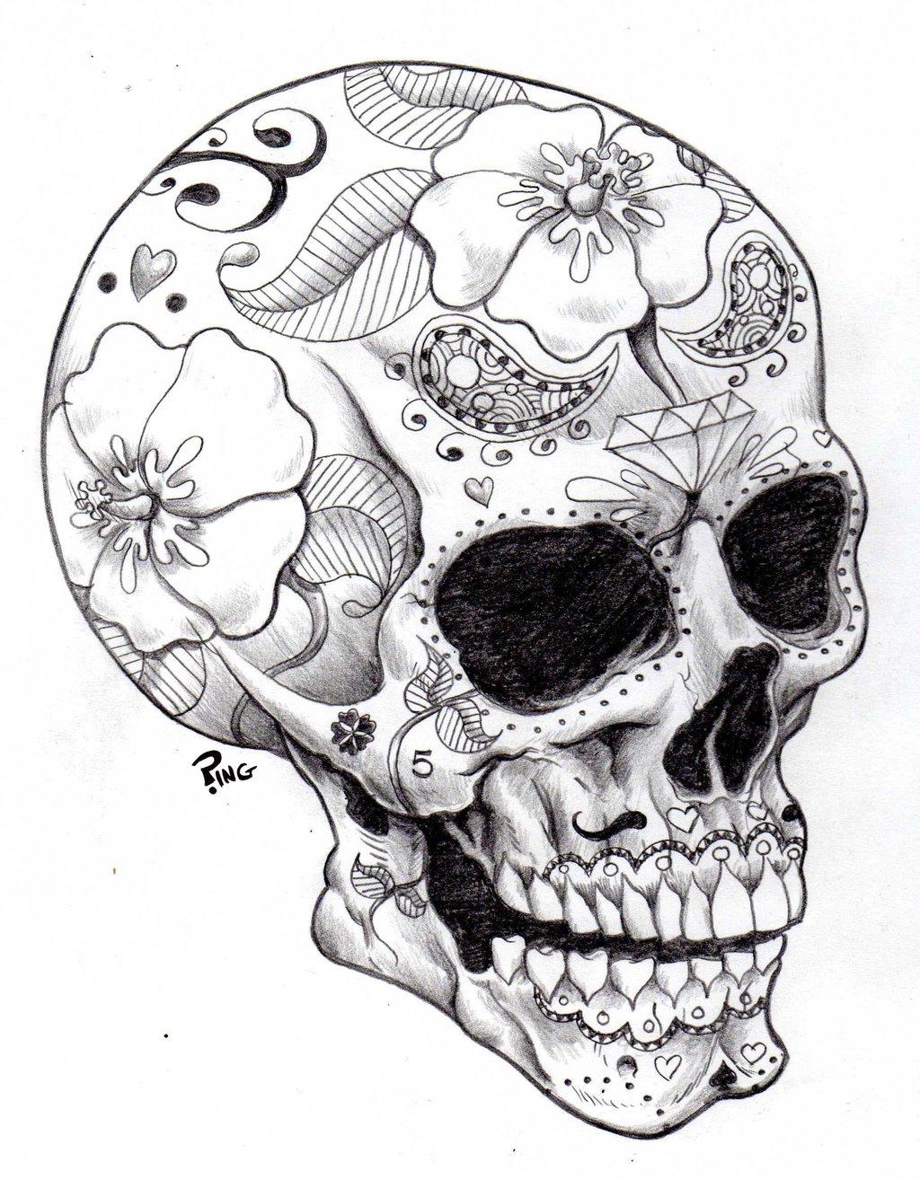 1024x1314 Candy Skull Sketch Skullcandy Clipart Hamlet Skull