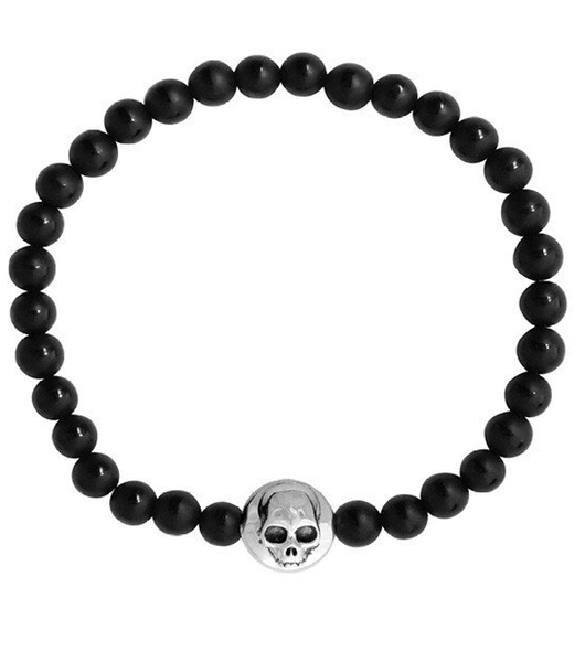 530x600 King Baby Matte Onyx Polished Center Stripe Wsilver Hamlet Skull
