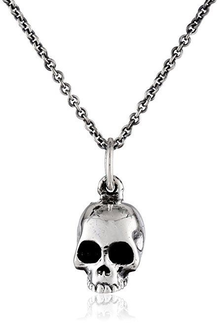 444x662 King Baby Micro Skull On Micro Rolo Chain Pendant Necklace, 18