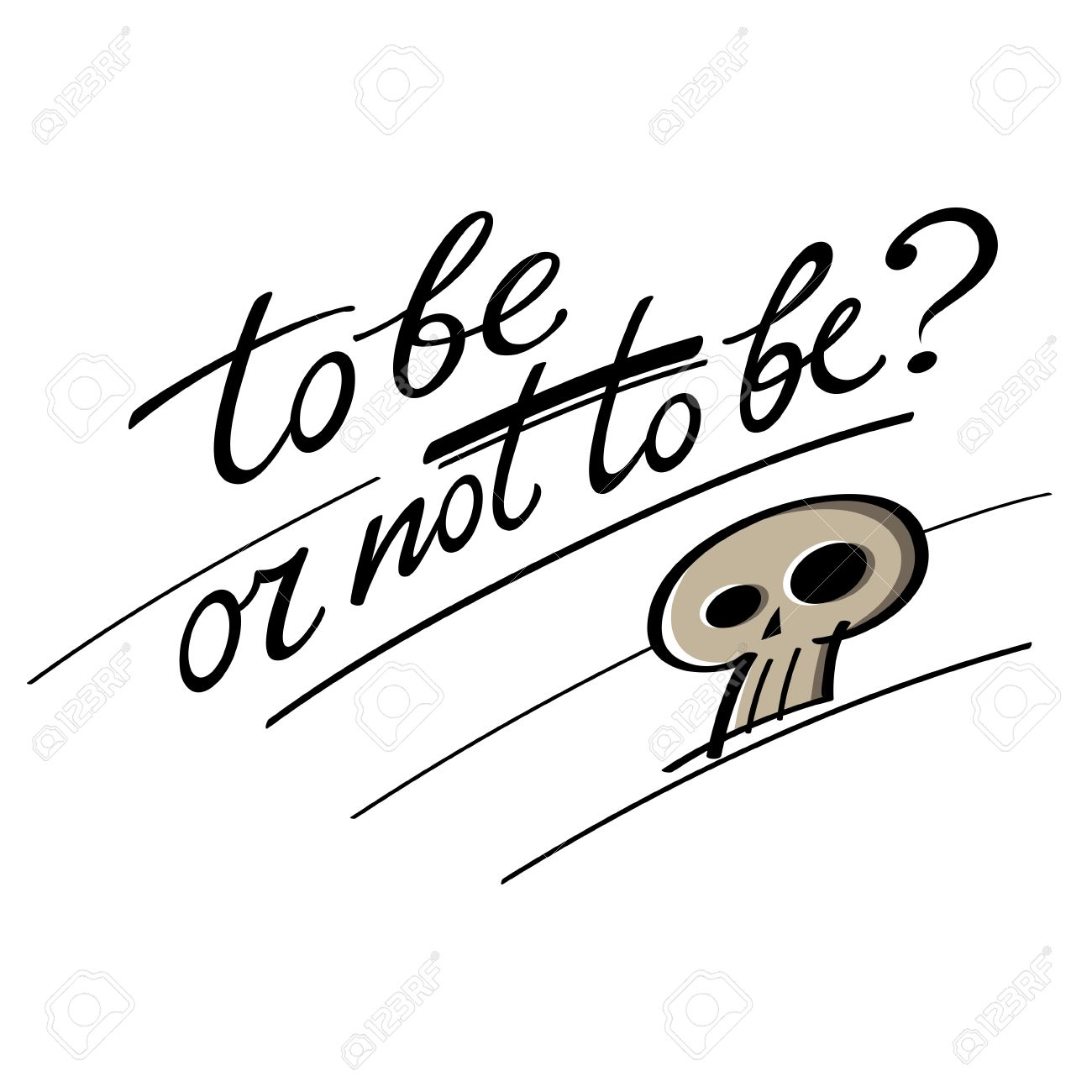 1300x1300 To Be Or Not To Be Question Hamlet Shakespeare Skull Royalty Free