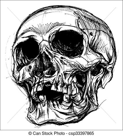 427x470 Drawing Skull Clipart, Explore Pictures