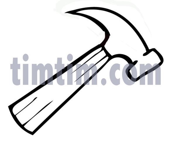 584x480 Free Drawing Of A Hammer Bw From The Category Building Home Tools