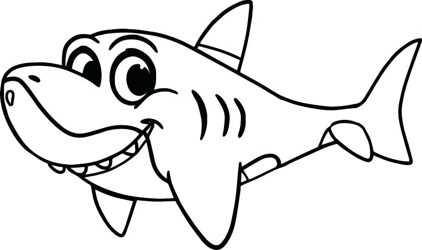 863x513 Hammerhead Shark Coloring Pages Free Color A Drawing