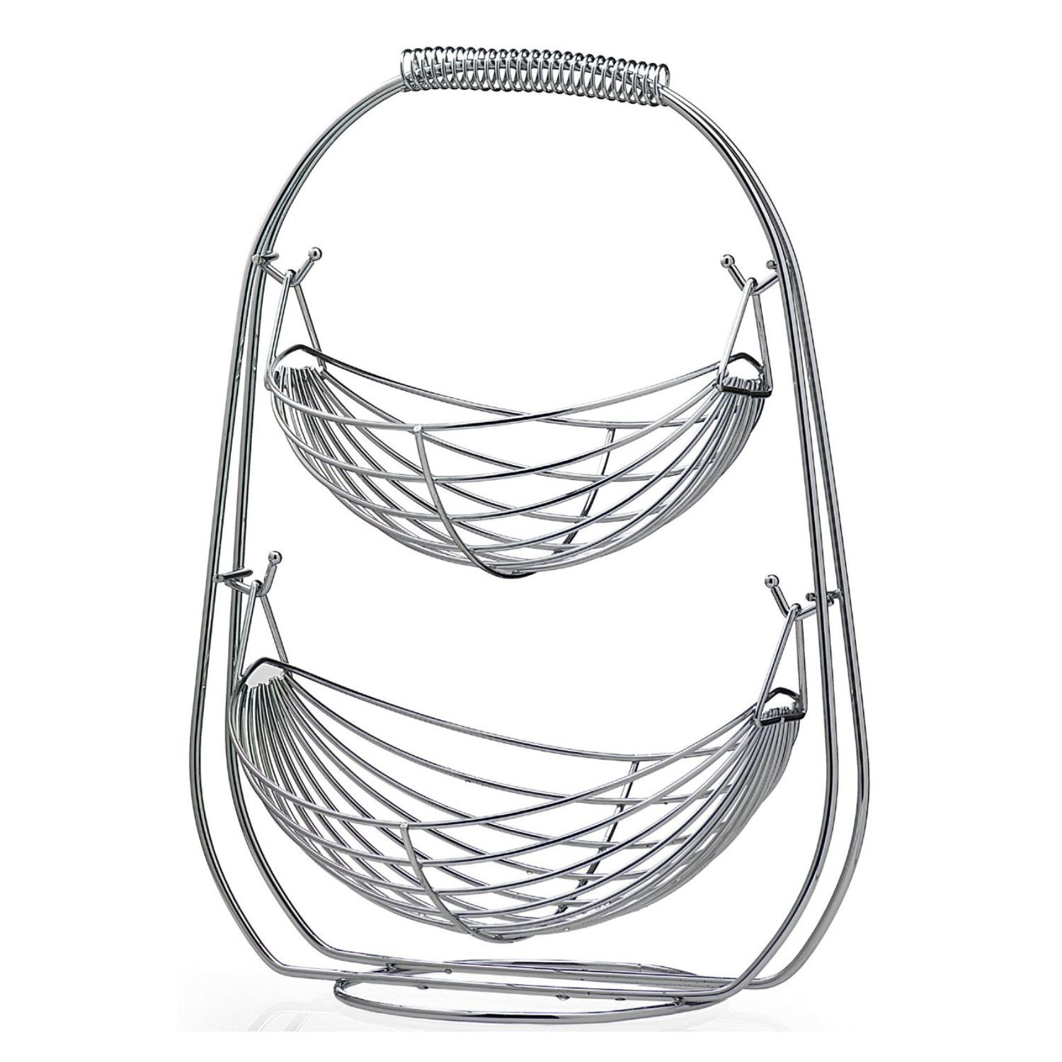 1500x1500 23 Tier Chrome Wire Fruit Hammock Basket Rack Kitchen Vegetable