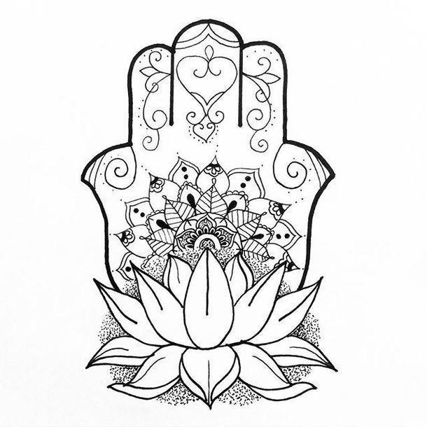 610x610 49 Best Hamsa Patterns Images On Mandalas, Hamsa Hand