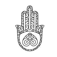 200x200 Hamsa Hand, Hand Of Mirium, Hand Of Fatima, Hand Of Buddha, Hand
