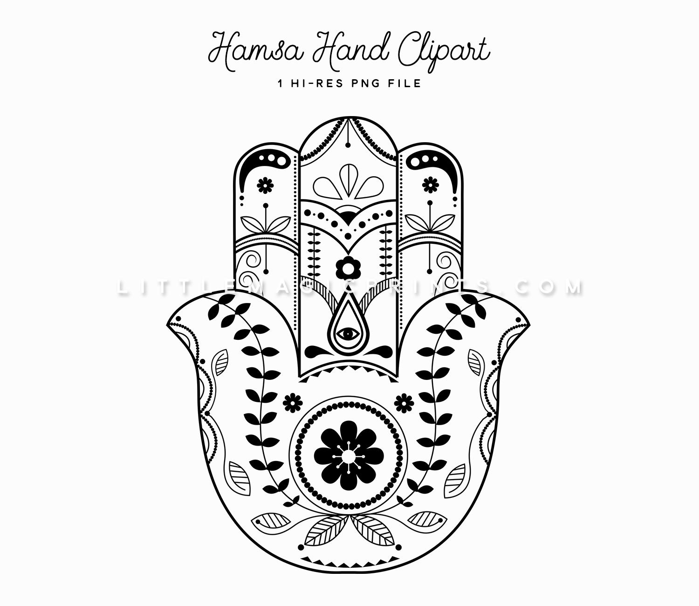 1500x1300 Hamsa Hand Clipart Little Magic Prints