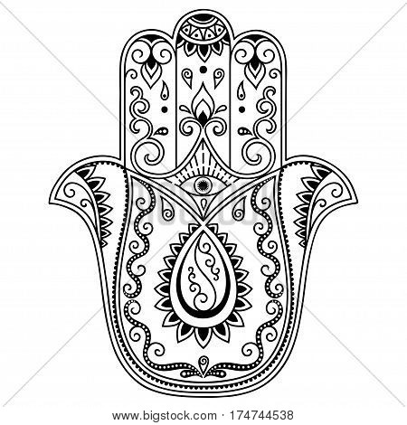 450x470 Vector Hamsa Hand Drawn Symbol. Vector Amp Photo Bigstock