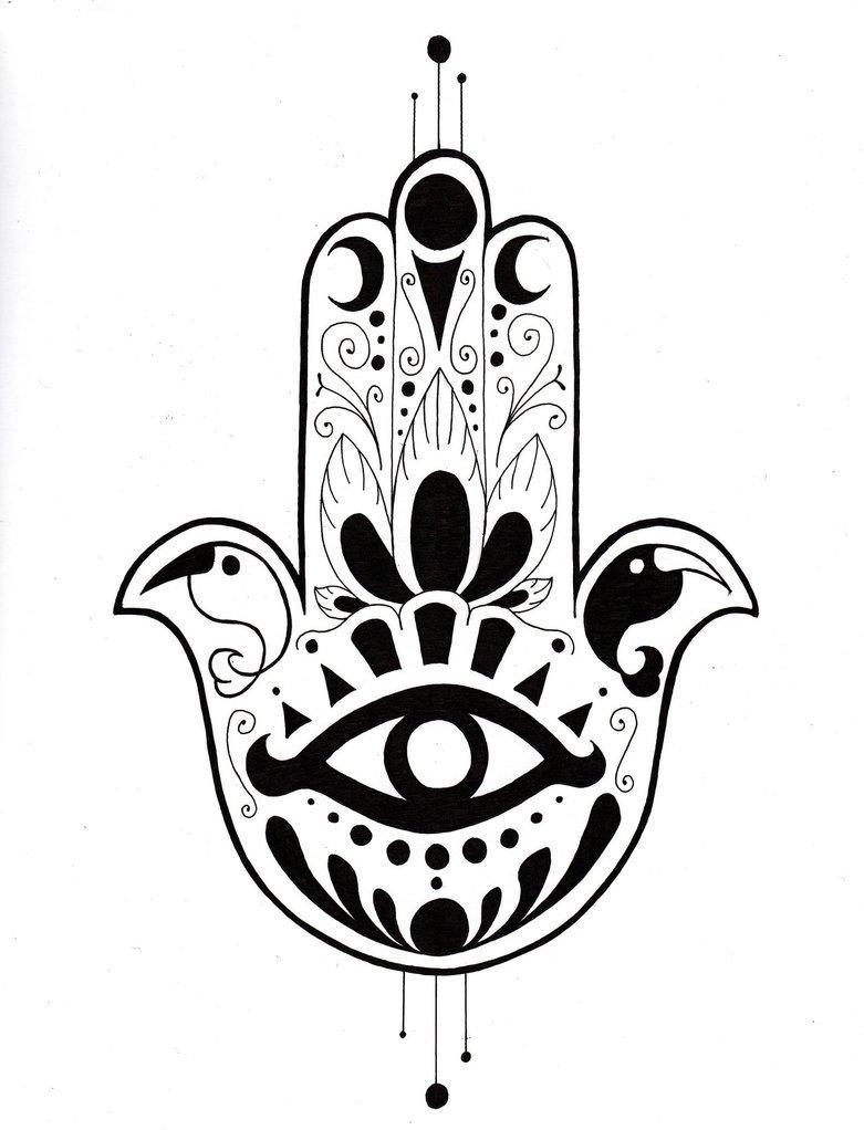 781x1022 Hamsa Hand By Herbivoreross