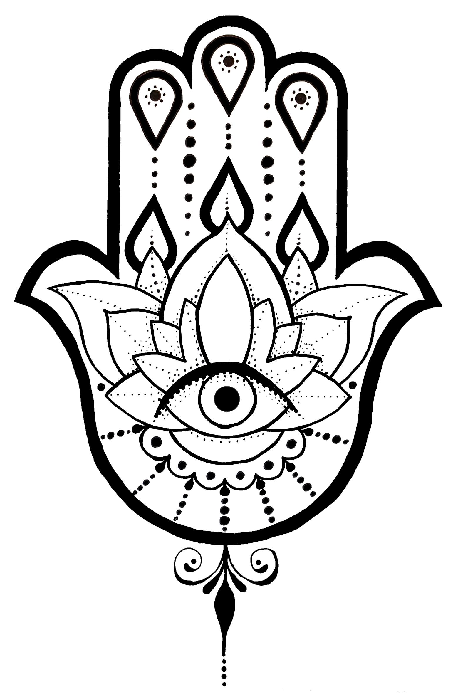 1542x2363 A Hamsa Tattoo Design I Created. Tattoo Ideas
