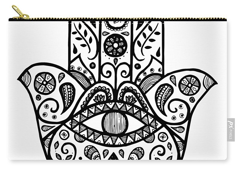 800x570 The Hamsa Hand Carry All Pouch For Sale By Tati Alecrim