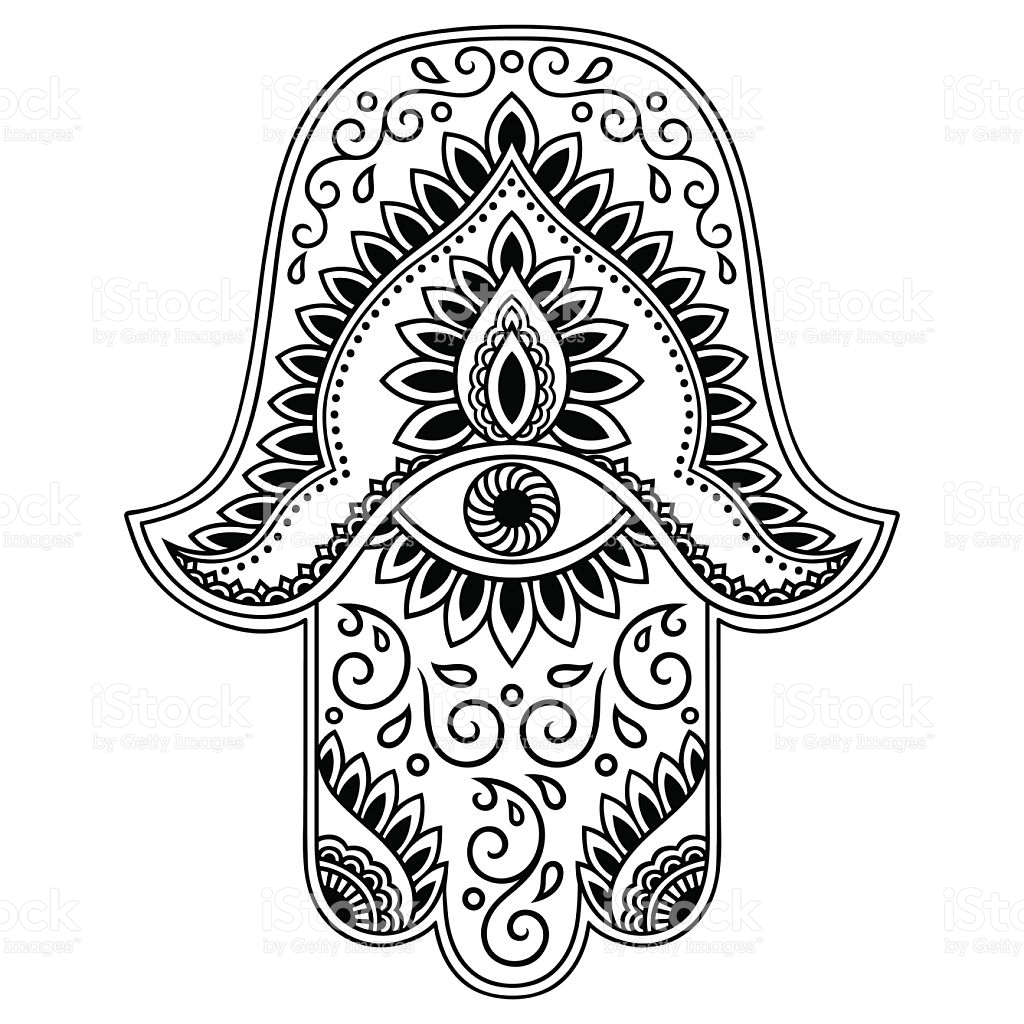1024x1024 Vector Hamsa Hand Drawn Symbol Hamsa Hand, Hand Drawn And Symbols