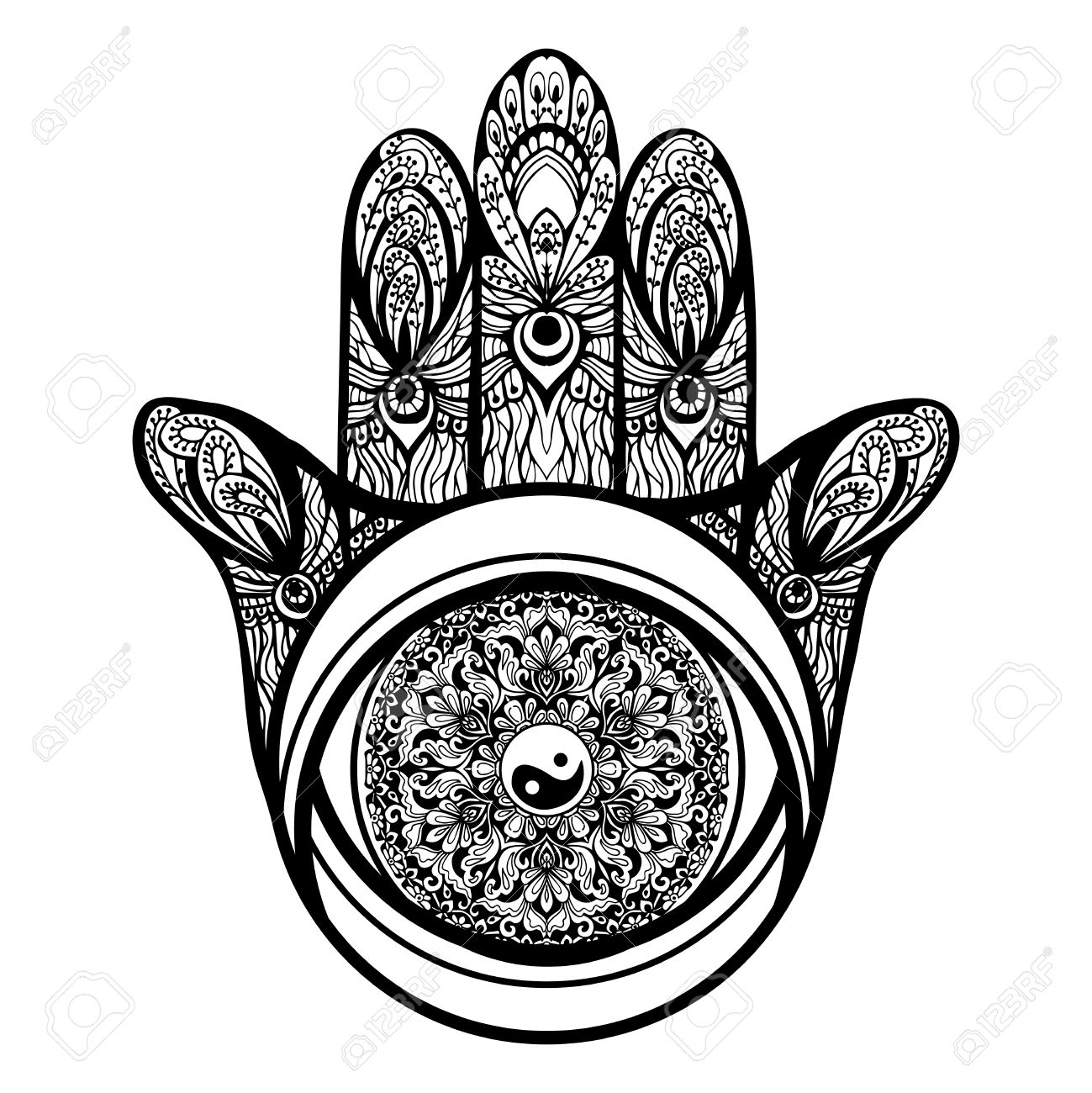 1299x1300 Drawn Hand Gesture Religious