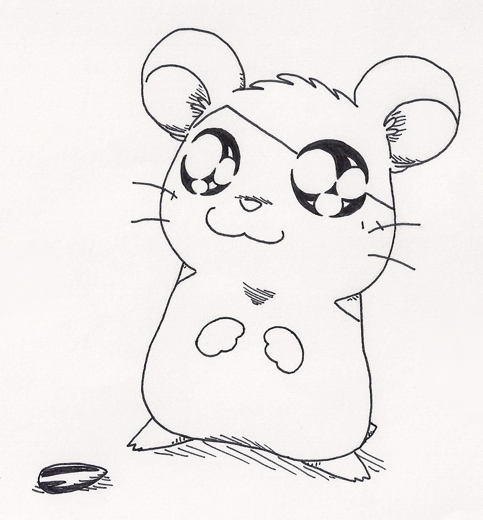982x1058 Hamtaro The Hamster By Lady Kappa