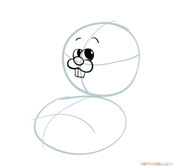 599x575 How To Draw A Cartoon Hamster Step By Step Drawing Tutorials