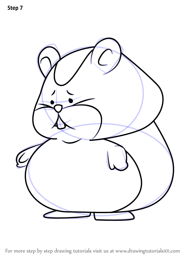 600x846 Learn How To Draw Hamster From Professor Layton (Professor Layton