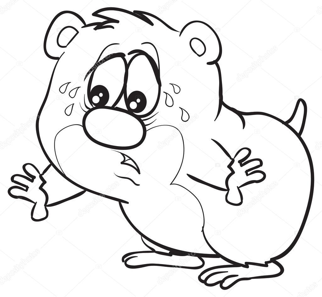 1024x945 Sad Cartoon Hamster Stock Vector Kopirin