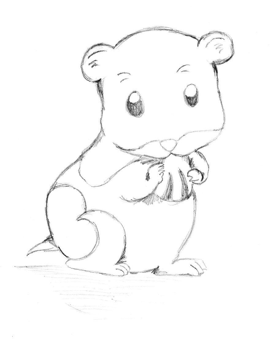 900x1107 Cartoon Hamster By Anthromangachibi