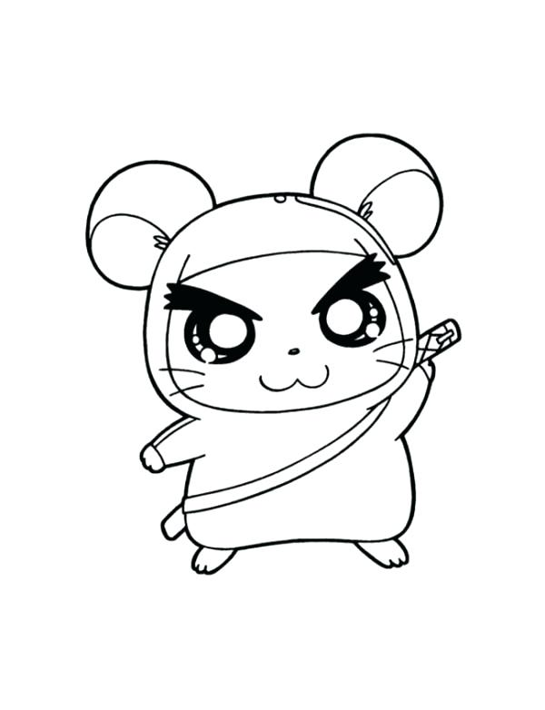 600x782 Beautiful Hamster Coloring Pages Fee