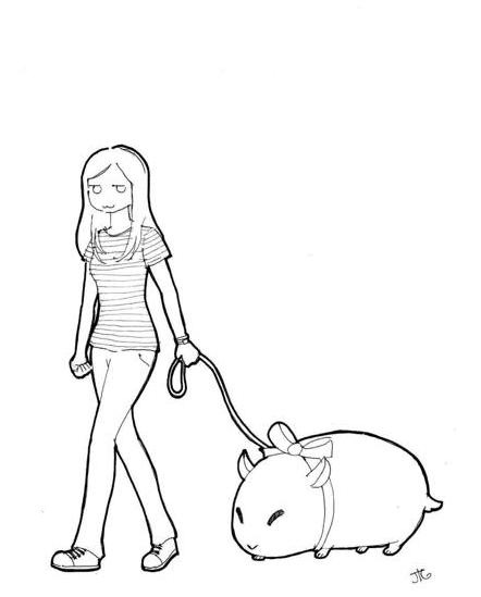 442x549 Taking My Hamster For A Walk By Gricken