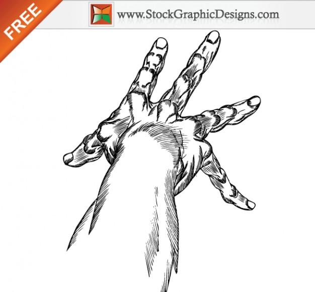 626x579 Hand Drawn Hands Free Vector Art Vector Free Download