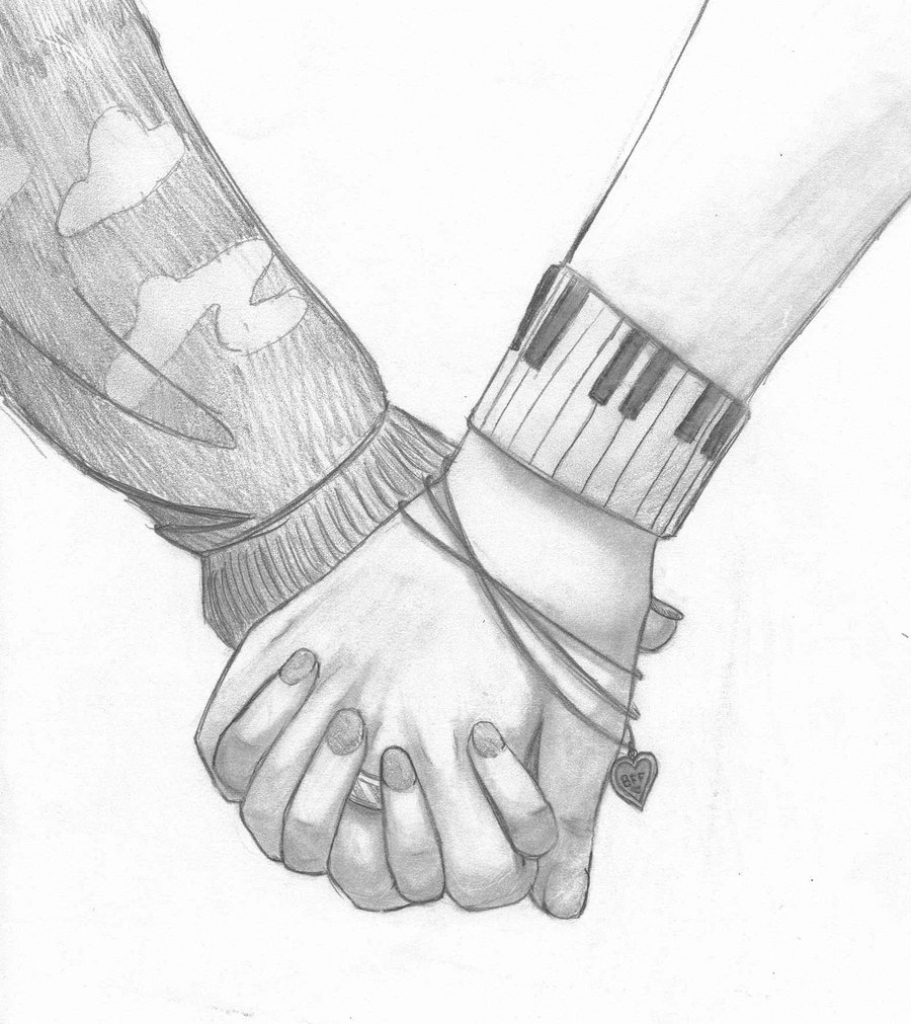 911x1024 Pencil Sketches Of Couples Holding Hands Drawing Of A Couple