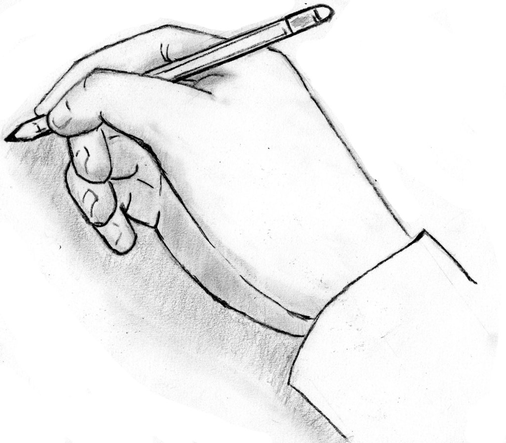 1024x896 Photos Drawing Of Hand Holding Pencil,