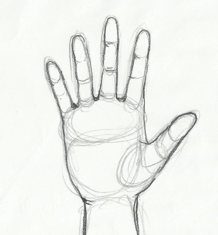 710x766 Tutorial Sketching Human Hand Artist Dreamer