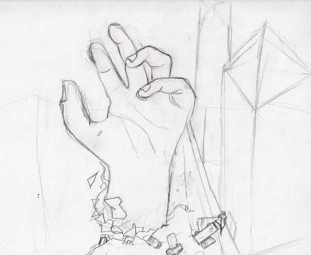 622x509 Contour Hand Drawing