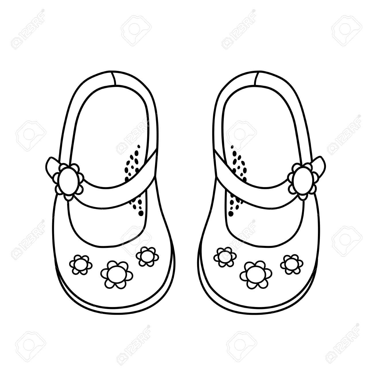 1300x1300 Hand Drawn Illustration Of Fashionable Shoe For Girl Clipart Station