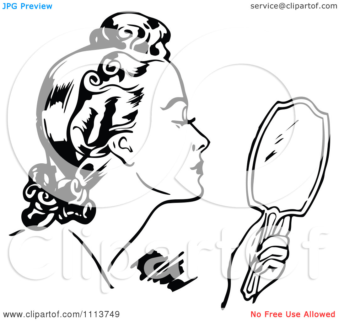1080x1024 Holding Mirror Drawing