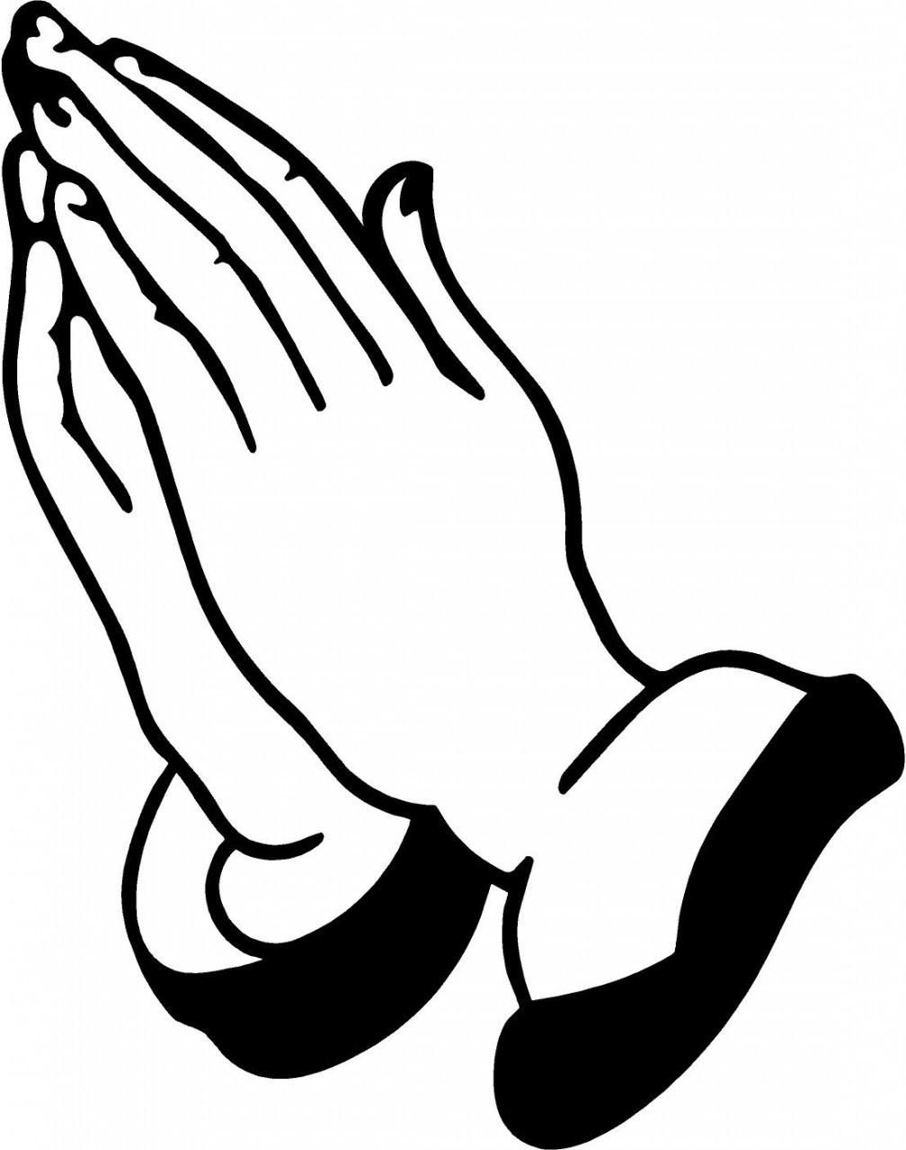 1008x1280 Open Praying Hands Clipart