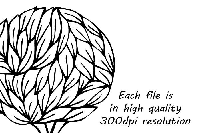 700x466 Doodle Trees Clipart, Hand Drawn Tree Clip Art, Digital Tree By