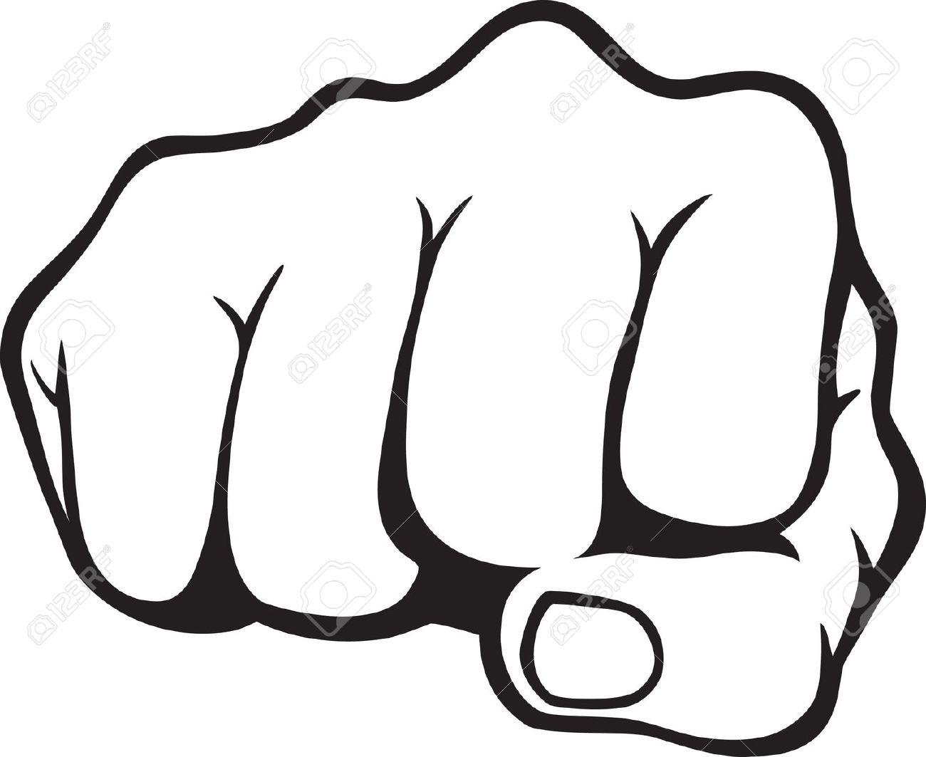 1300x1063 Drawn Fist Hand Punch