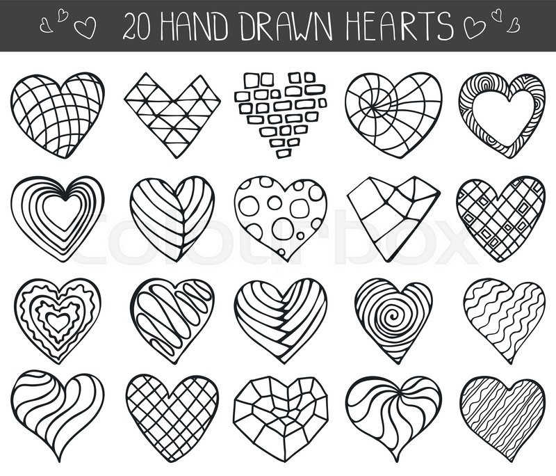 800x684 Heart Icons Set.valentine,wedding,love Symbols.vintage Heart Love