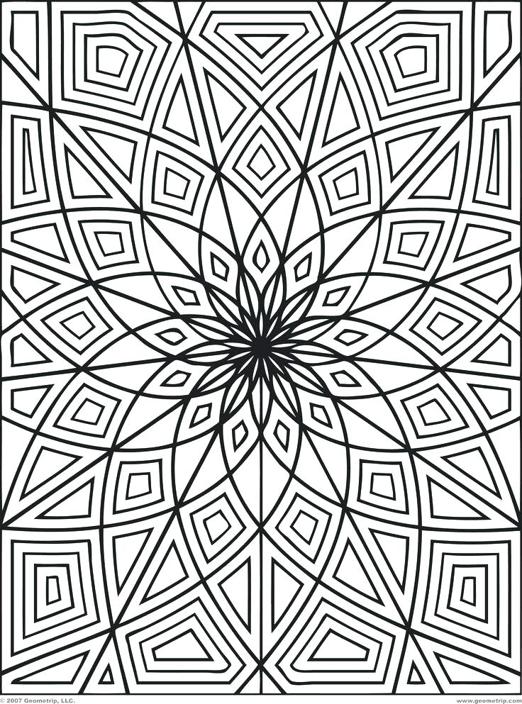 736x993 Wonderful Optical Illusion Coloring Pages 59 In Coloring For Kids