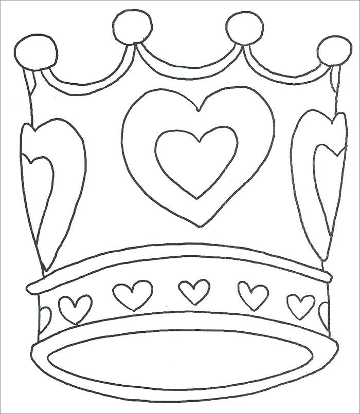 700x806 Elegant Coloring Pages Crown Image Vector Illustration Outline