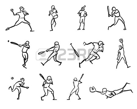 450x359 Football Or Soccer Player Motion Sketch Studies, Hand Drawn Vector