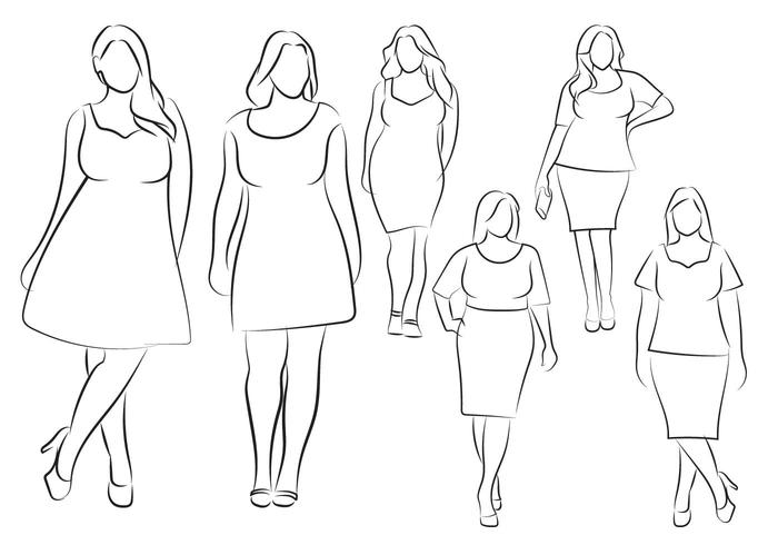 700x490 Hand Drawn Outline Fashion Illustration