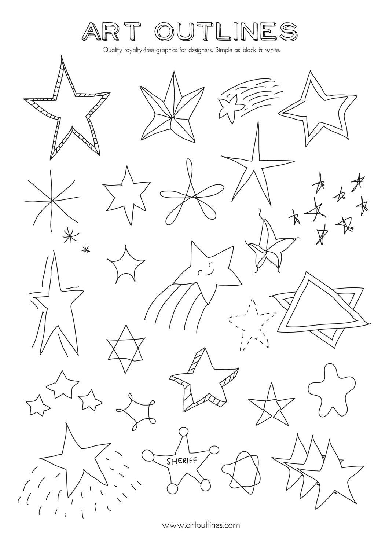 1061x1500 Set Of Stars