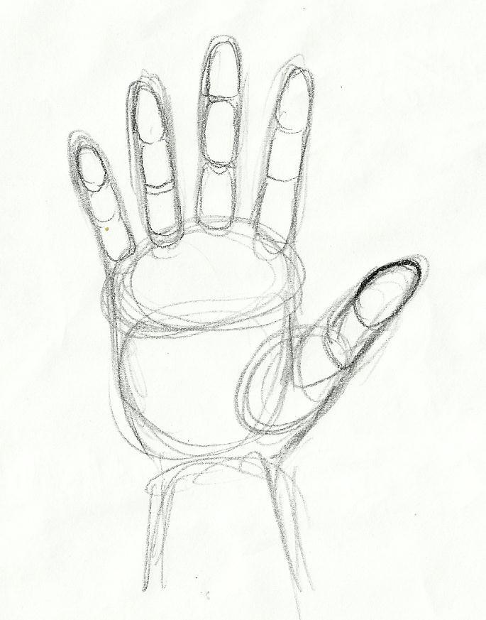 685x873 Tutorial Sketching Human Hand Artist Dreamer