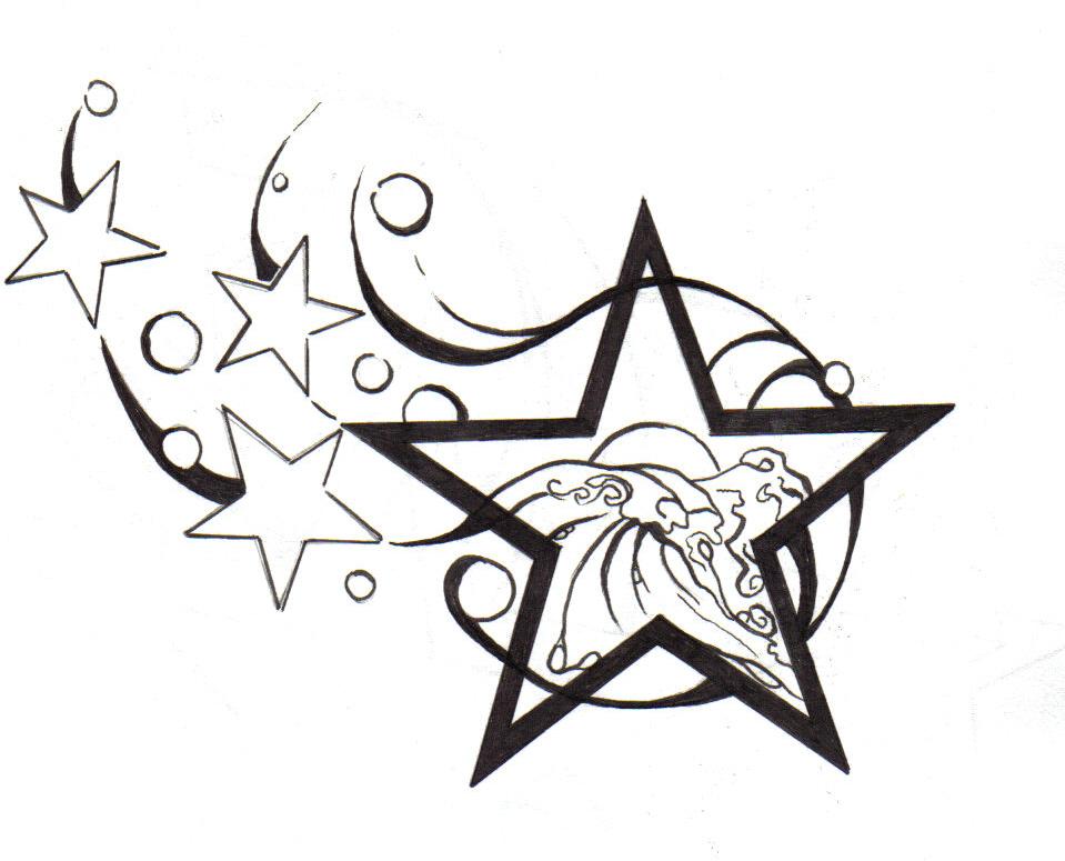 959x775 Drawn Tattoo Star