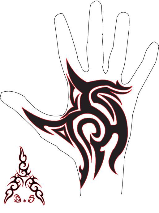 514x688 Black Religious Jesus On Cross Tattoo On Hand