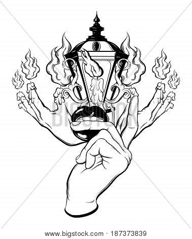 378x470 Vector Hand Drawn Surreal Vector Amp Photo Bigstock