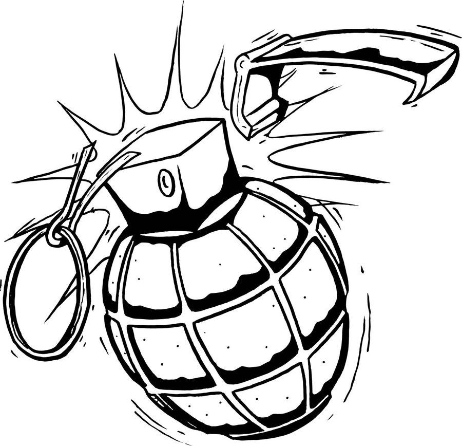 900x868 Hand Grenade Tattoos