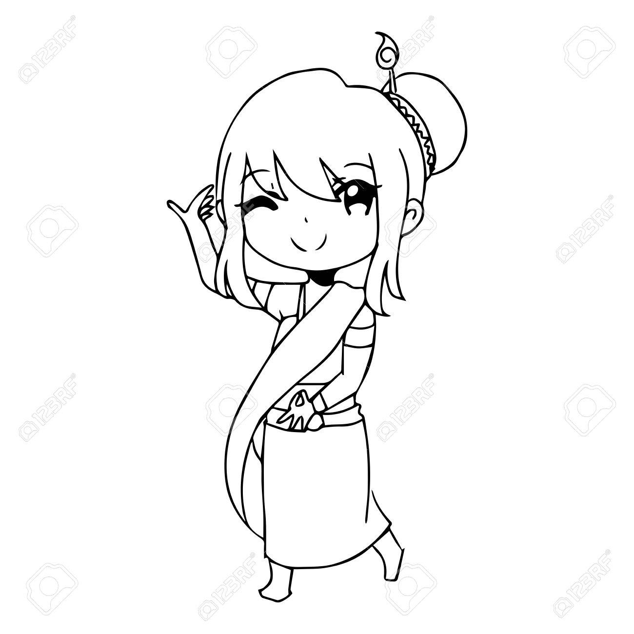 1300x1300 Hand Drawing Pic To Actress Illustration Vector Hand Drawn Doodle