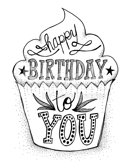 434x556 Hand Drawn, Doodle Style Cupcake With Hand Lettered