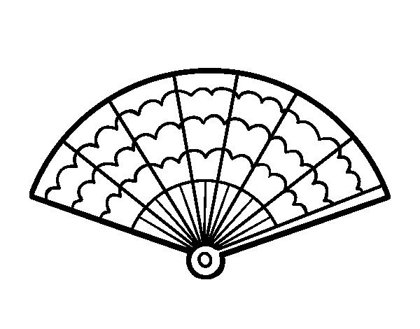 600x470 A Handheld Fan Coloring Page